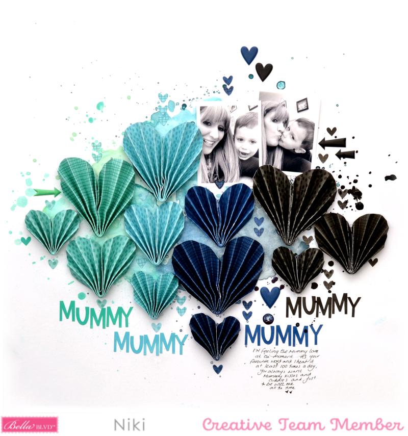 Mummy Love Niki Rowland Bella Blvd Besties florence shimmerz paints origami hearts set