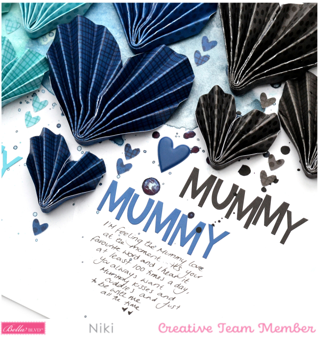 Mummy Love Niki Rowland Bella Blvd Besties florence shimmerz paints origami hearts