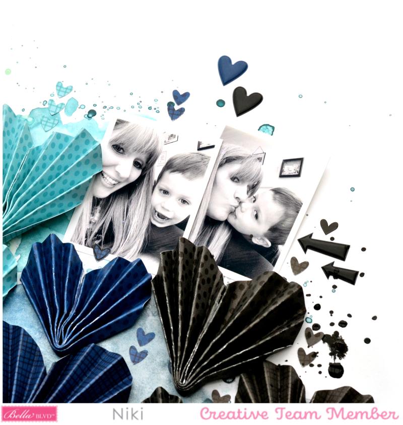 Mummy Love Niki Rowland Bella Blvd Besties florence shimmerz paints origami hearts detail3