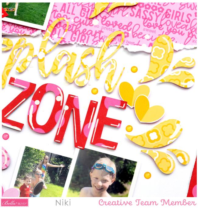 Splash Zone Niki Rowland Bella Blvd my candy girl cut files scrapbooking layouts set