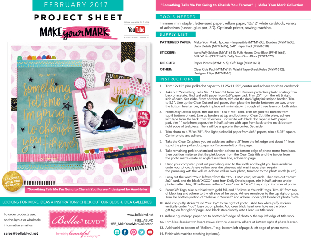 Make Your Mark | Project Sheet February 2017