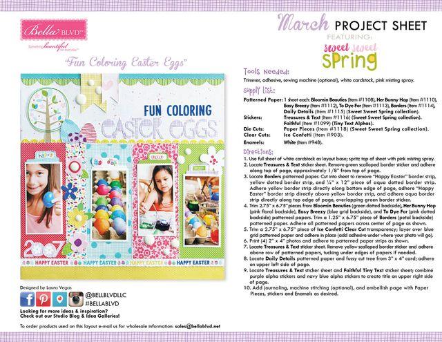 Sweet Sweet Spring Project Sheet 2016