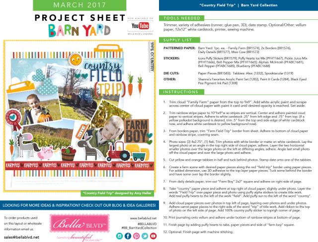 Barn Yard Project Sheet | March 2017