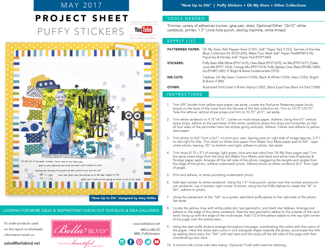 Puffy Stickers Project Sheet | May 2017