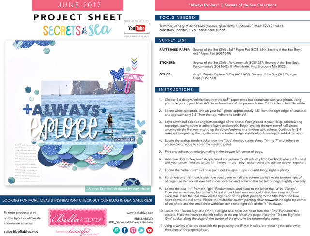 Secrets of the Sea Project Sheet | June 2017