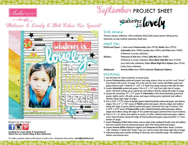 Whatever Is Lovely Project Sheet 2015