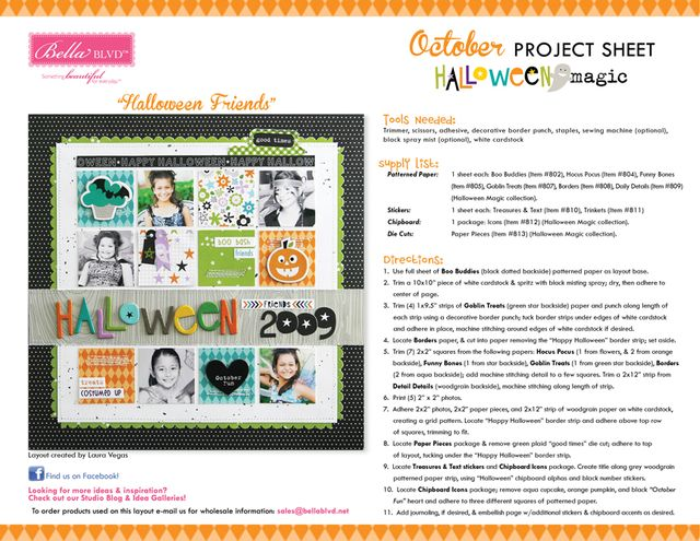 Halloween Magic Project Sheet 2014