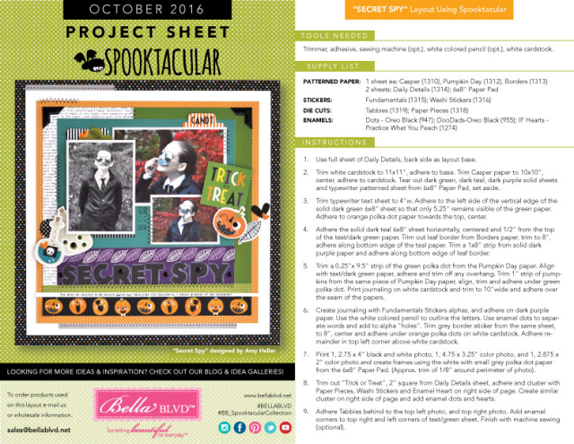 Spooktacular Project Sheet 2016