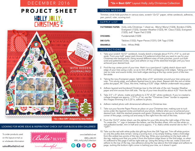 Holly Jolly Christmas Project Sheet 2016