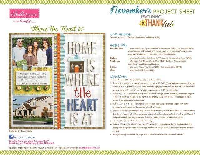 Thankful Project Sheet 2013