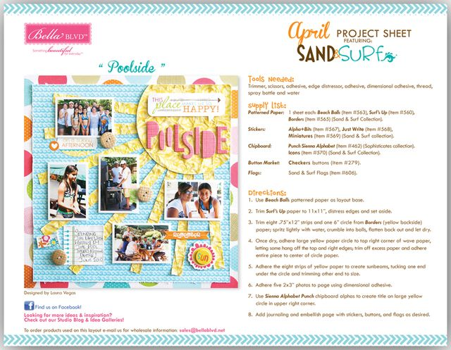 SAND AND SURF PROJECT SHEET 2013