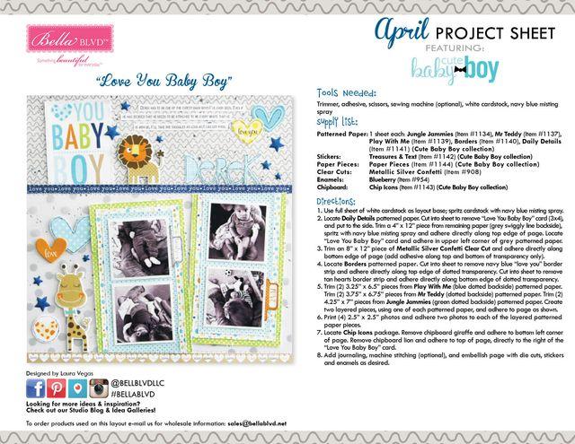 Cute Baby Boy Project Sheet 2016