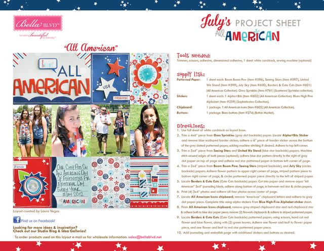 All American Project Sheet 2014