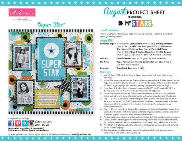 Oh My Stars Project Sheet 2016