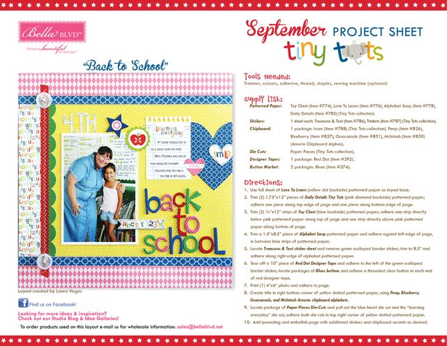 Tiny Tots Project Sheet 2014
