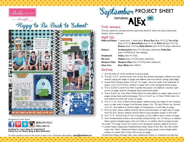 Alex Project Sheet 2016