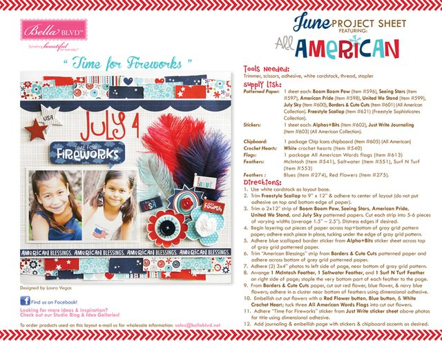 All American Project Sheet 2013