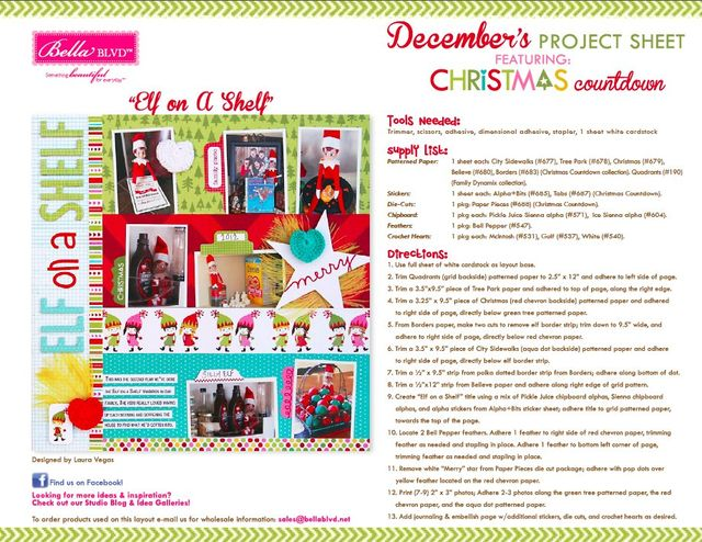 Christmas Countdown Project Sheet 2013