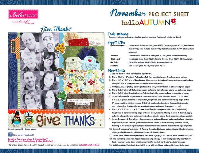 Hello Autumn Project Sheet 2014