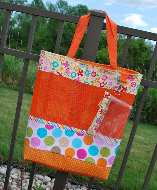 Riley Blake Designs Fabric: KFrye Photo 1 Bella Beach Bag